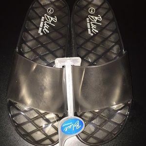 dad7140d3e78 Shoes - Black Jelly Slides